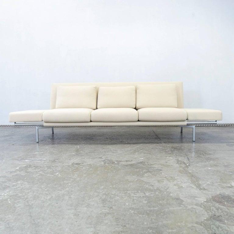h lsta designer sofa creme beige fabric three seat sofabed. Black Bedroom Furniture Sets. Home Design Ideas