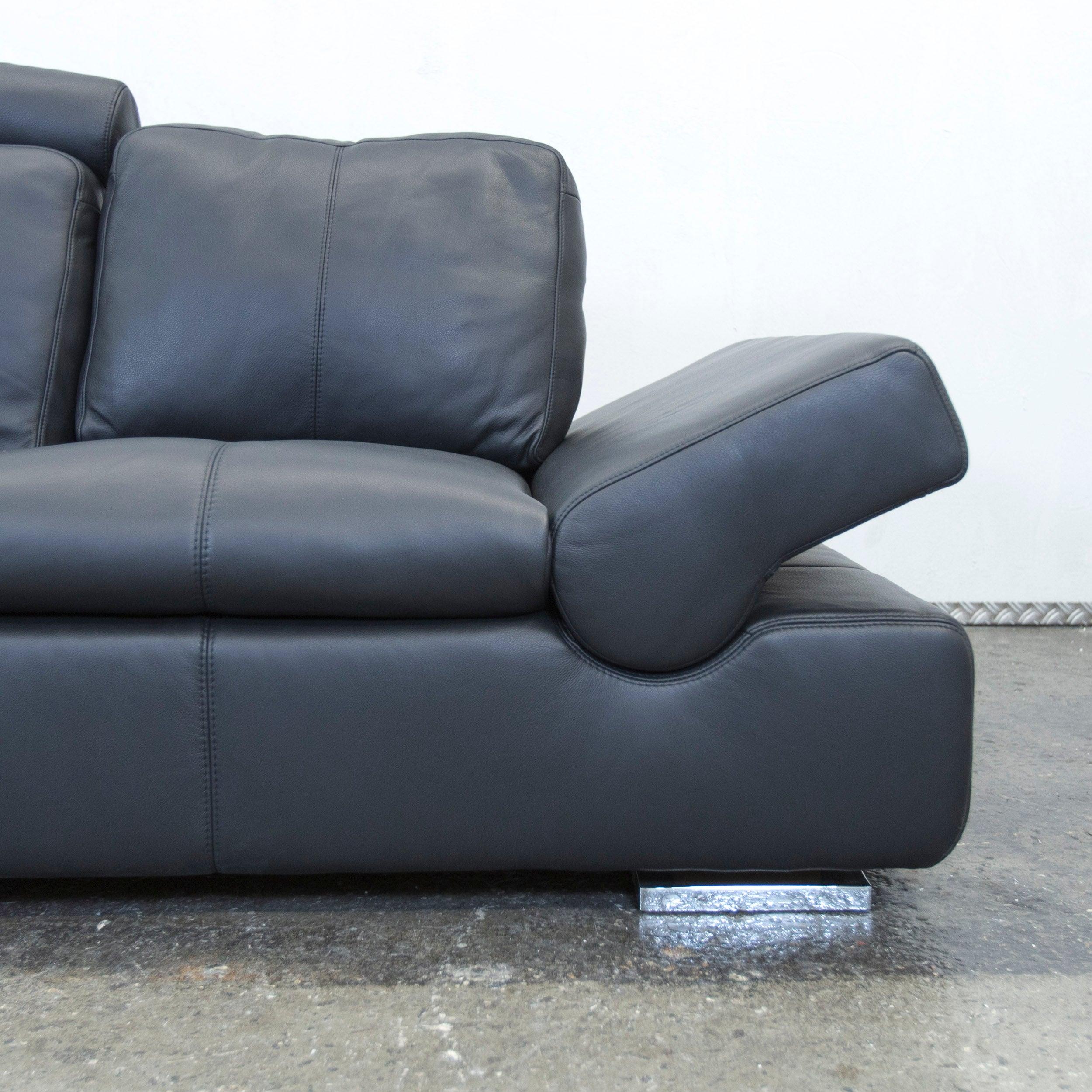 Amüsant Sofa Mit Funktion Sammlung Von Musterring Linea Designer Leather Black Three-seat Couch