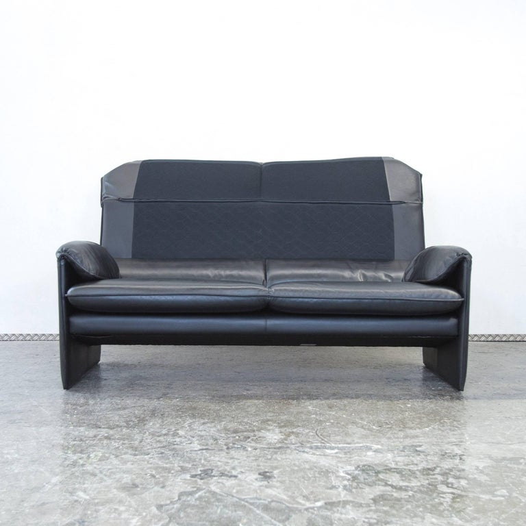 leolux designer sofa black three seat couch function. Black Bedroom Furniture Sets. Home Design Ideas