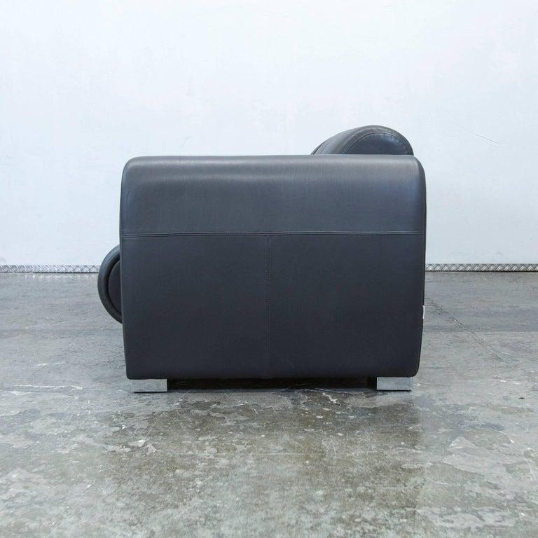 br hl sumo designer leather sofa black two seat couch modern for sale at 1stdibs. Black Bedroom Furniture Sets. Home Design Ideas