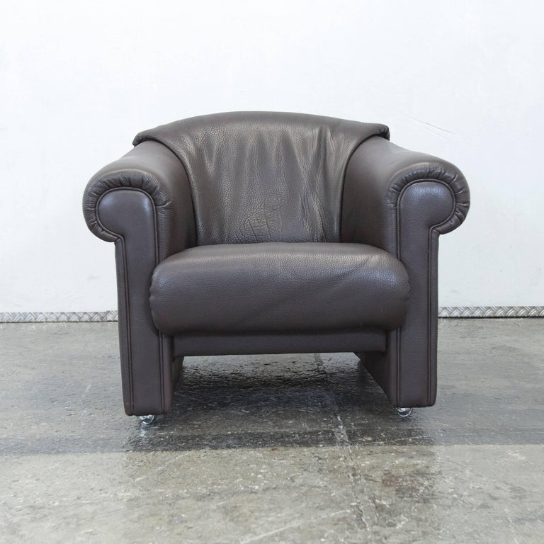 brühl designer leather armchair brown one seat couch for sale at, Hause deko