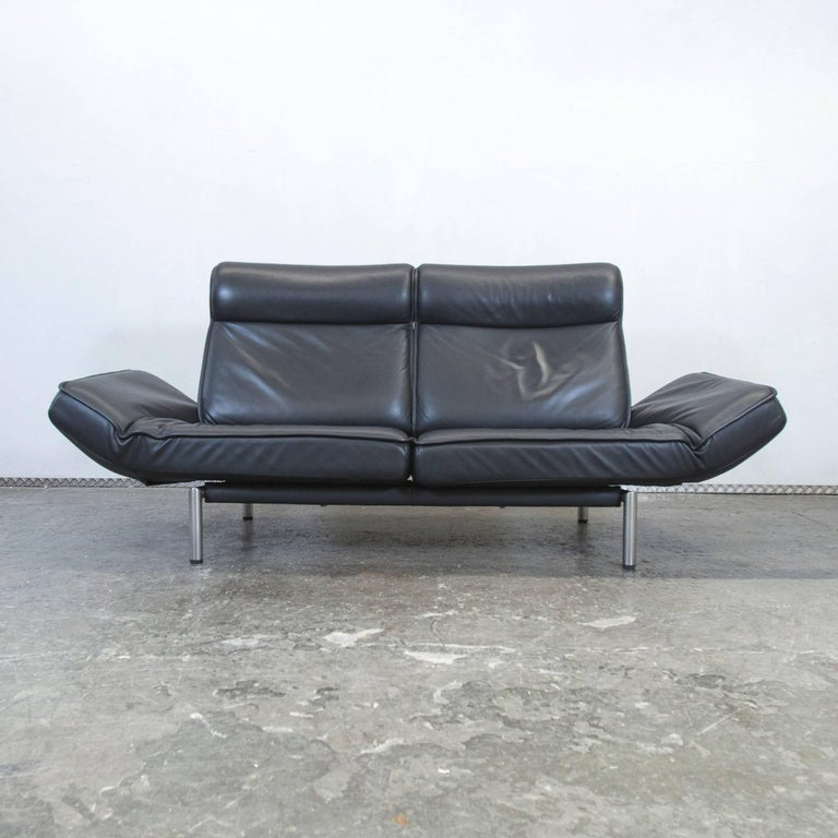 Sofa modern leder  de Sede Ds 450 Designer Leather Sofa Black Relax Function Two-Seat ...