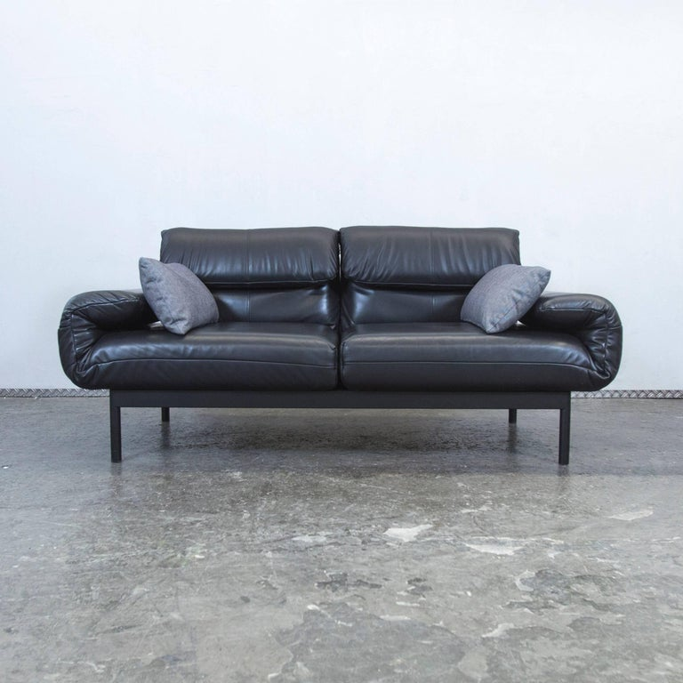 rolf benz plura designer leather sofa black function. Black Bedroom Furniture Sets. Home Design Ideas