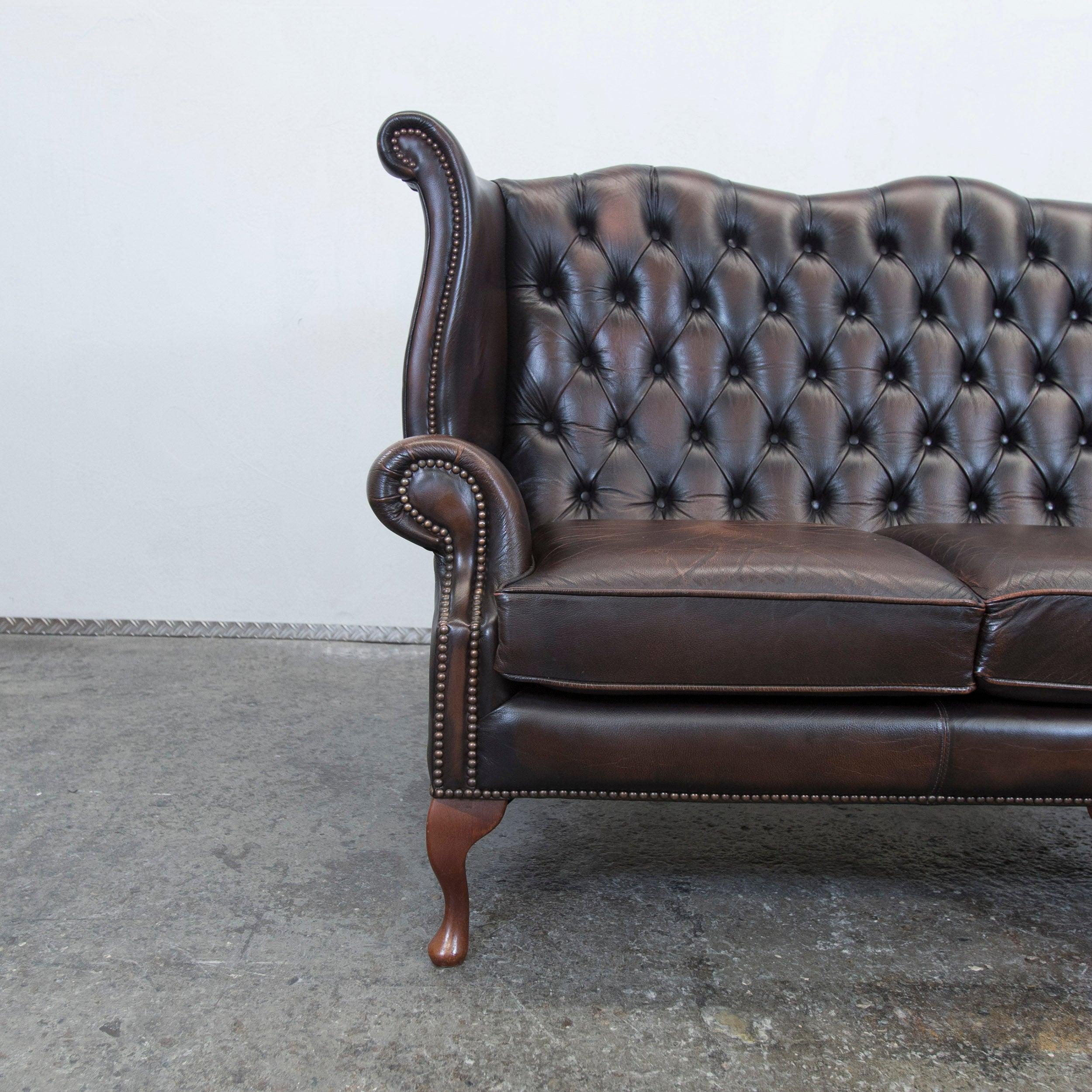 vintage ohrensessel cheap details zu echtleder vintage. Black Bedroom Furniture Sets. Home Design Ideas