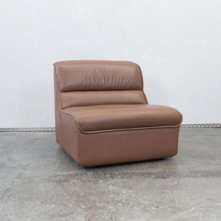 Cor Designer Leather Modular Sofa Set Brown Couch Vintage