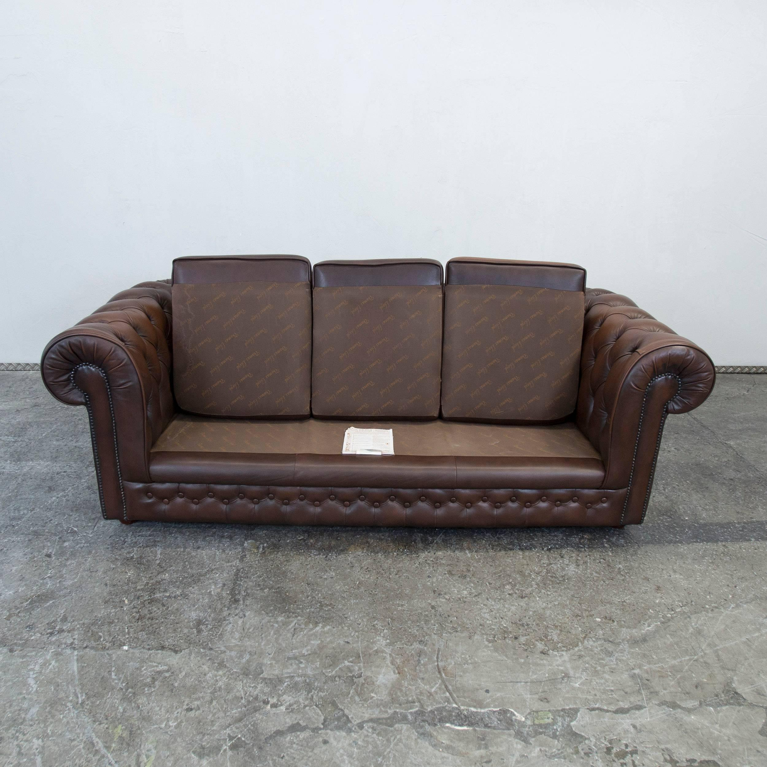 Wunderschön Couch Leder Braun Ideen Von Cool Thomas Lloyd Leather Sofa Brown Threeseat