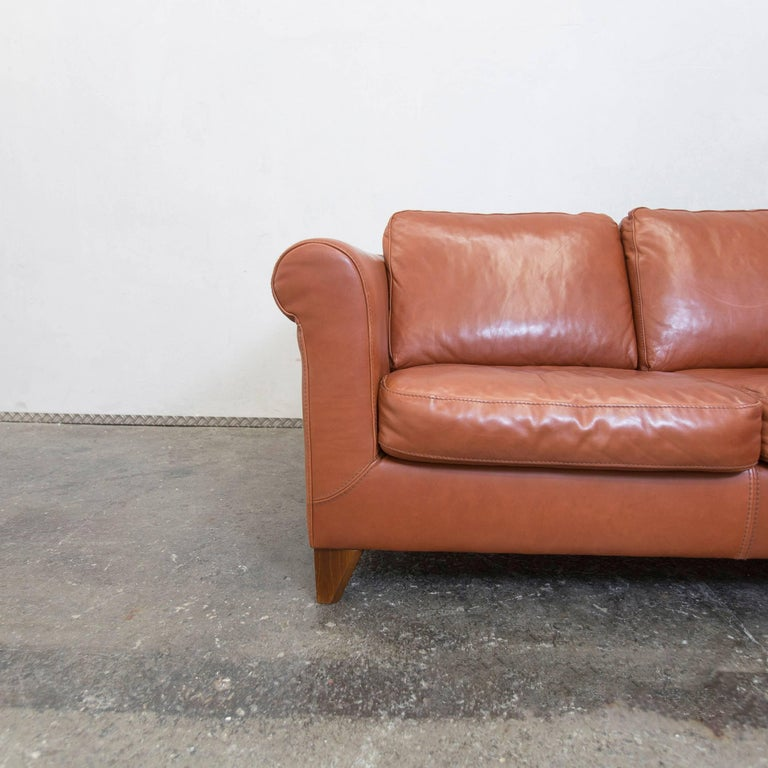 machalke designer leather cornersofa brown sofa vintage at 1stdibs. Black Bedroom Furniture Sets. Home Design Ideas
