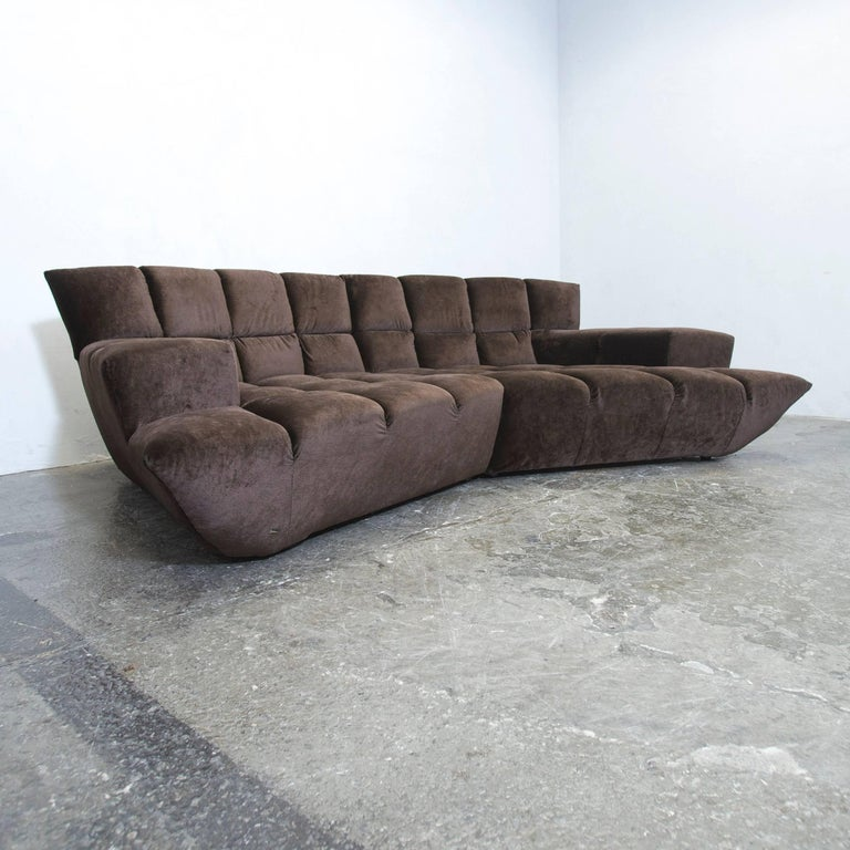 bretz cloud 7 designer cornersofa brown velvet couch modern at 1stdibs. Black Bedroom Furniture Sets. Home Design Ideas