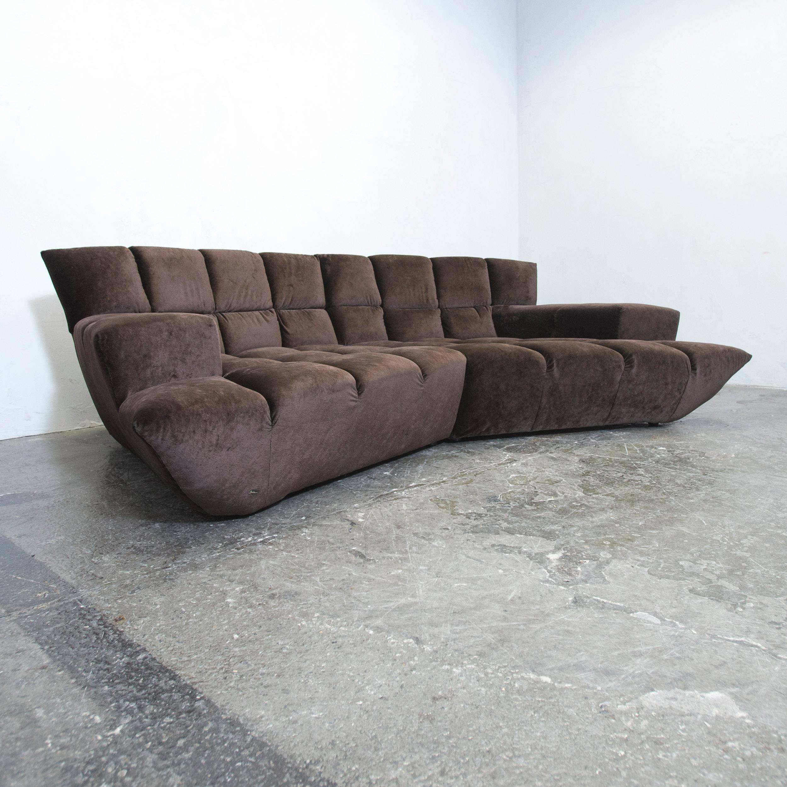 Bretz Cloud 7 Designer Cornersofa Brown Velvet Couch Modern 3