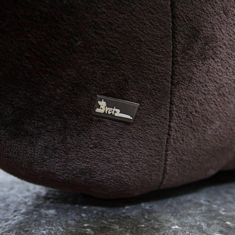 bretz cloud 7 designer cornersofa brown velvet couch modern at 1stdibs. Black Bedroom Furniture Sets. Home Design Ideas