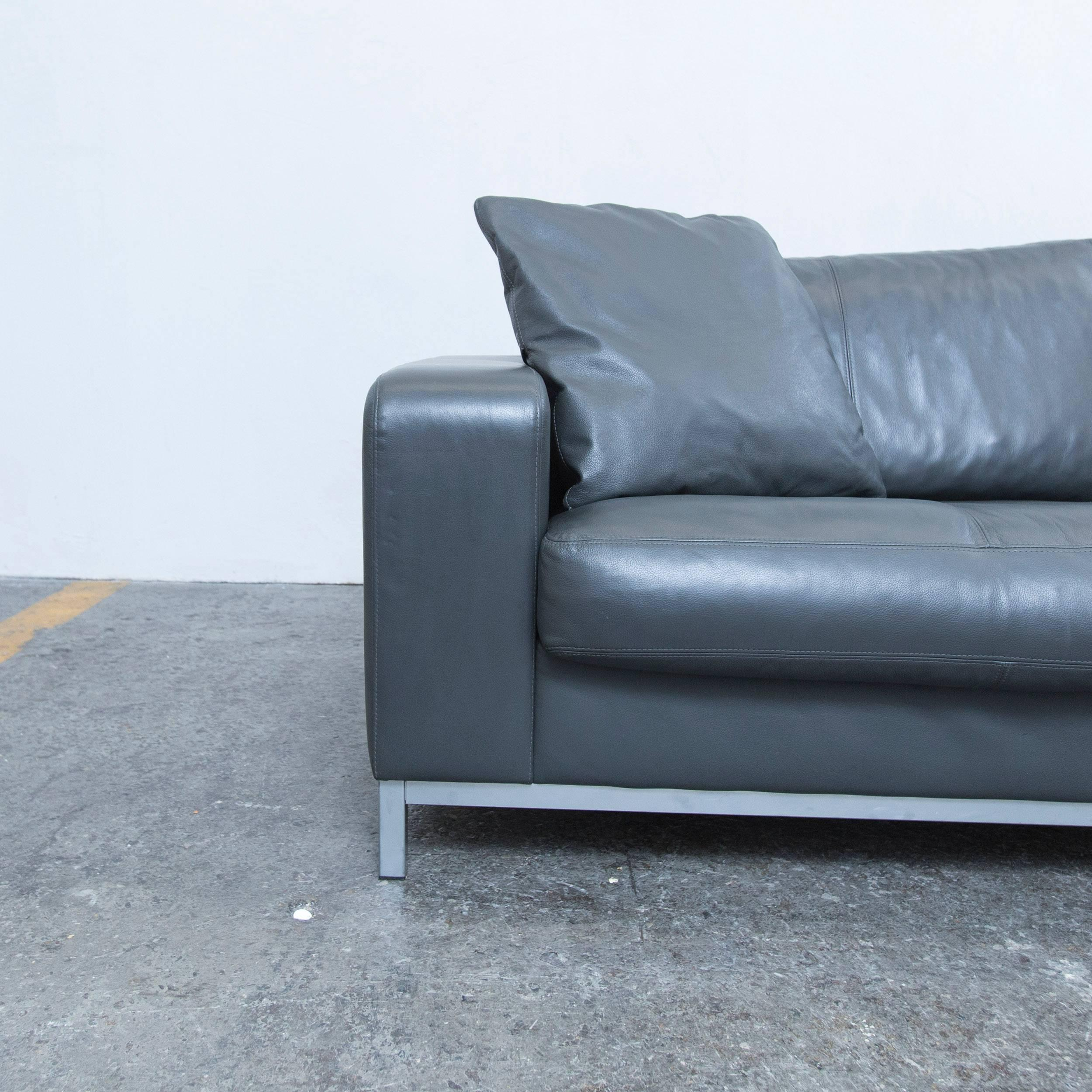 Grey Colored Original Machalke Designer Leather Sofa In A Modern And  Minimalistic Design, Made For