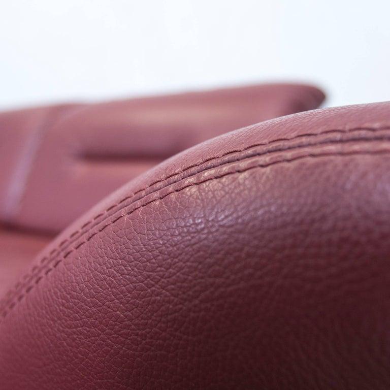 designer corner sofa bordeaux red leather couch function recamiere modern at 1stdibs. Black Bedroom Furniture Sets. Home Design Ideas