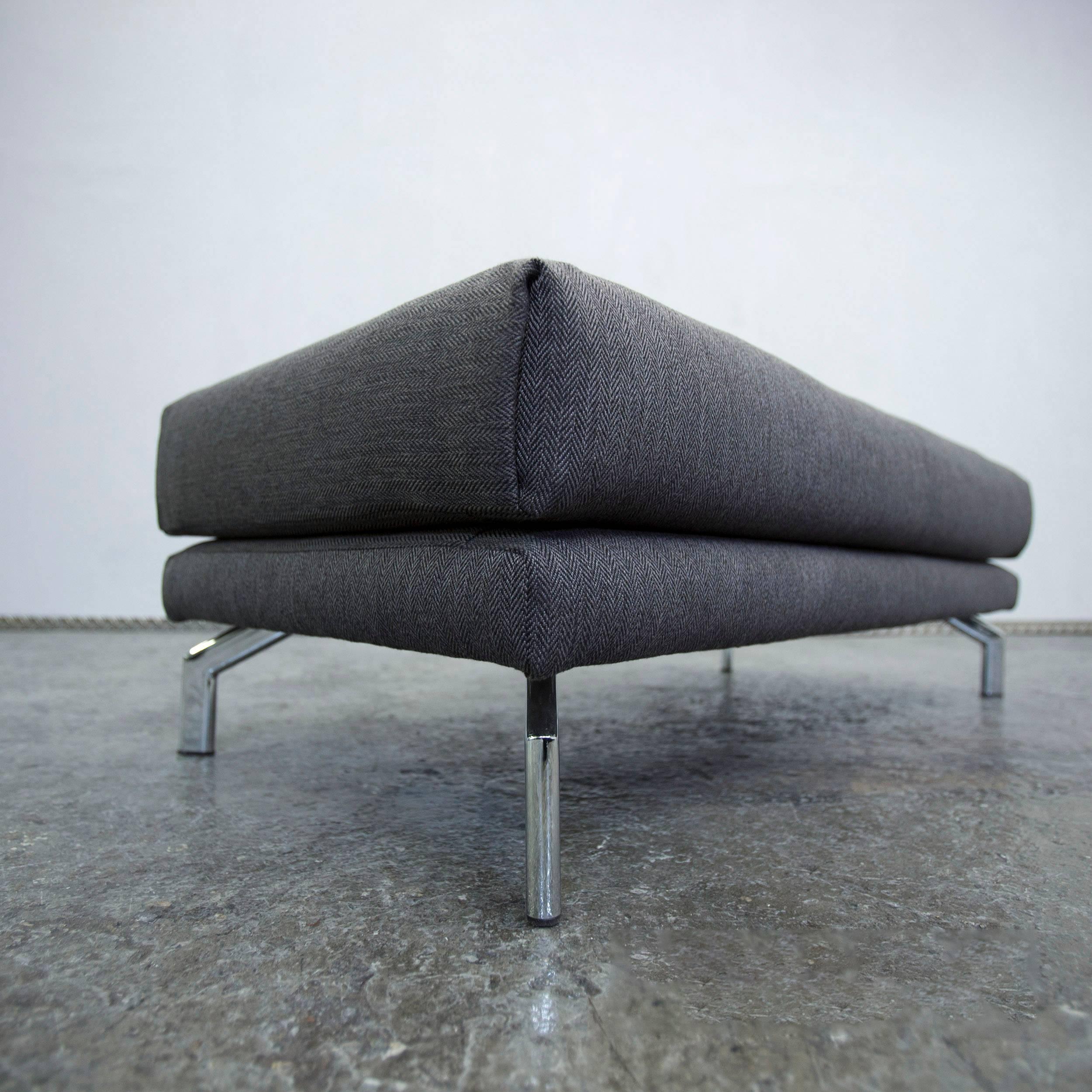 Schön Eck Wohnlandschaft Das Beste Von Loft Designer Footstool Fabric Grey Pouf Footrest