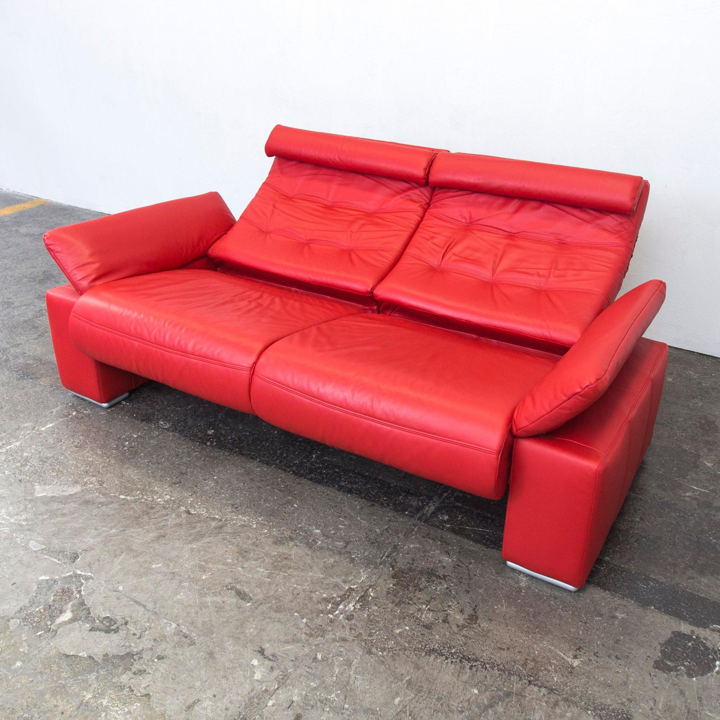 Verführerisch Sofa Mit Funktion Das Beste Von Corona Savena Designer Red Leather Two-seat Couch