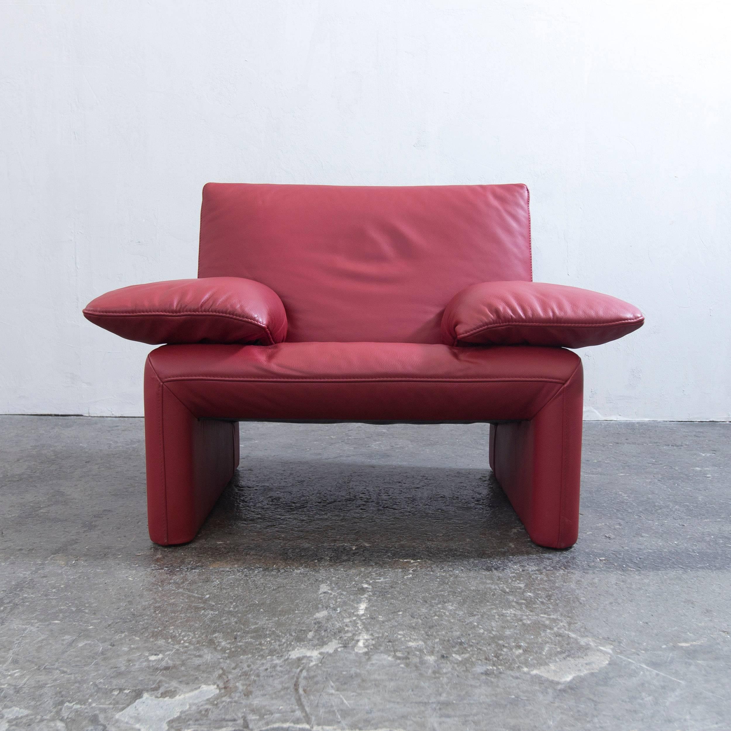 Cool Jori Designer Sessel Rot Leder Einsitzer Couch Funktion Modern Echtleder With