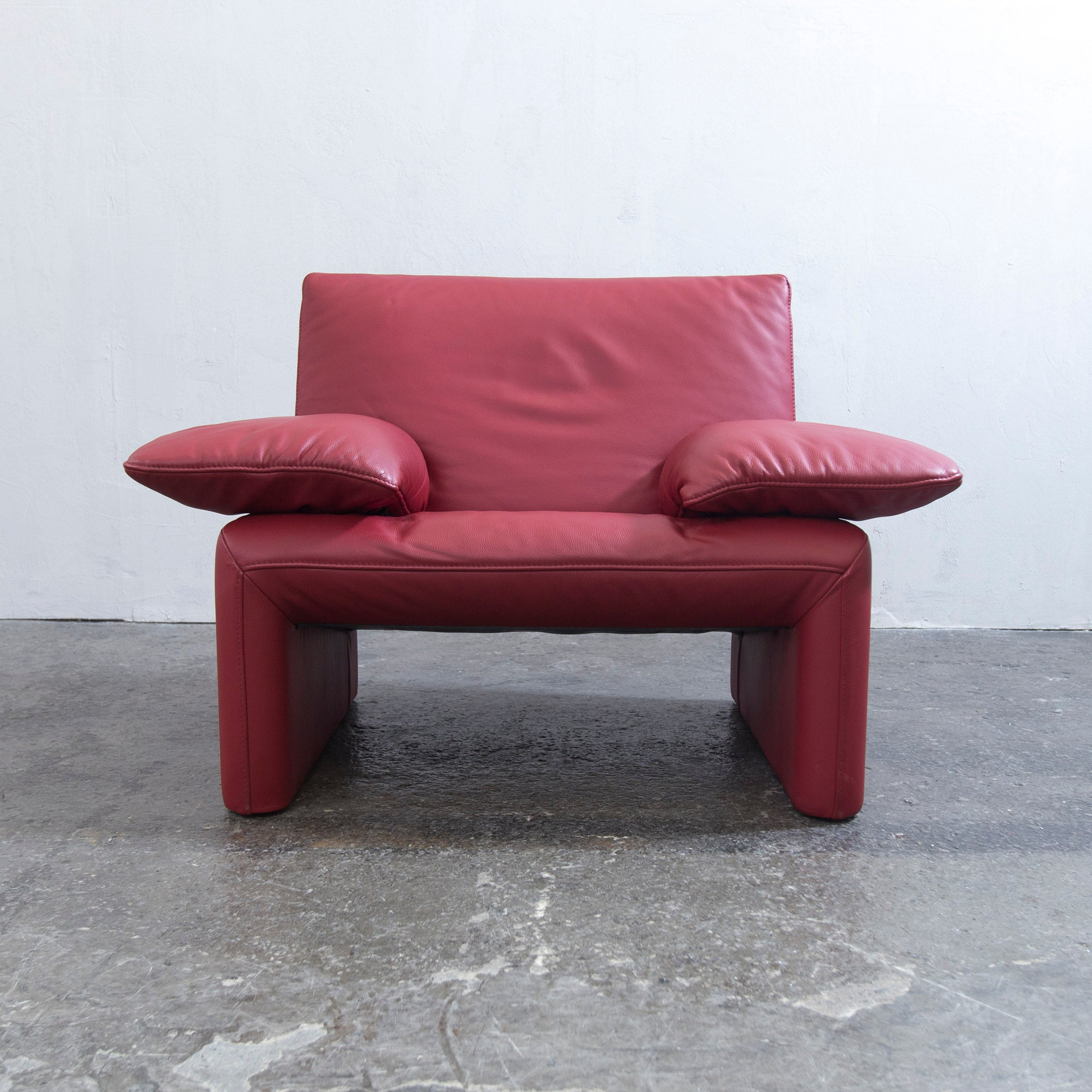 Entzückend Sofa Echtleder Galerie Von Jori Designer Sessel Rot Leder Einsitzer Couch