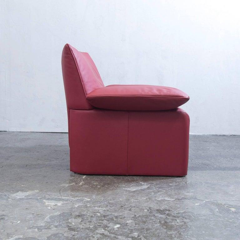 jori designer sessel rot leder einsitzer couch funktion. Black Bedroom Furniture Sets. Home Design Ideas