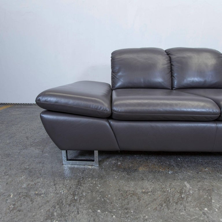willi schillig designer leather sofa brown three seat couch function modern for sale at 1stdibs. Black Bedroom Furniture Sets. Home Design Ideas