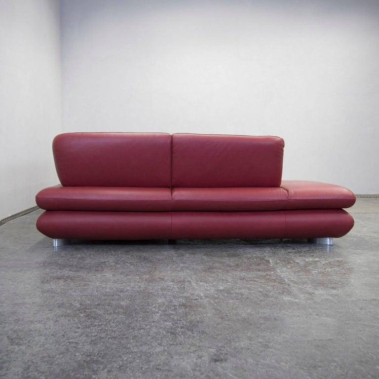 willi schillig designer leather cornersofa red function. Black Bedroom Furniture Sets. Home Design Ideas