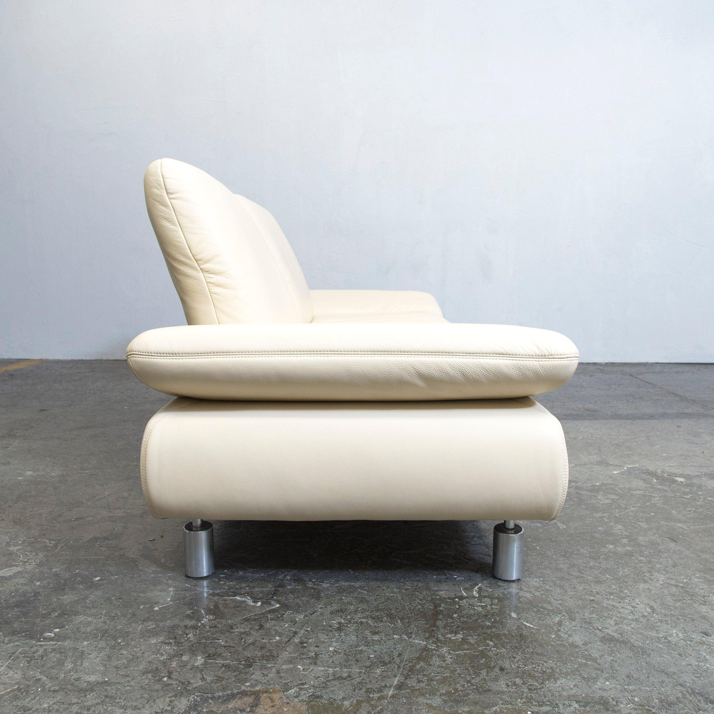 Stunning Koinor Rossini Designer Leather Sofa Crme White Threeseat Function  Modern At Stdibs With Designer Sthle Wei