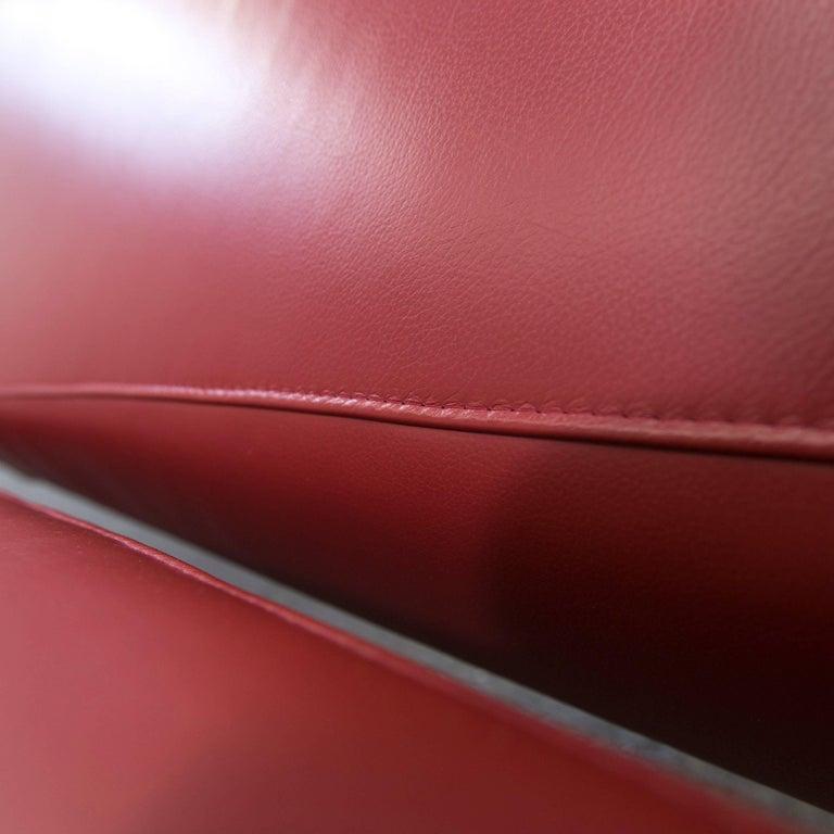 ewald schillig fly designer sofa red leather modern at 1stdibs. Black Bedroom Furniture Sets. Home Design Ideas