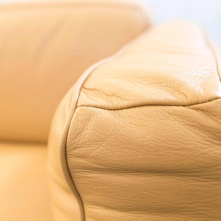 Dreipunkt Designer Leather Sofa Mustard Yellow Two Seat