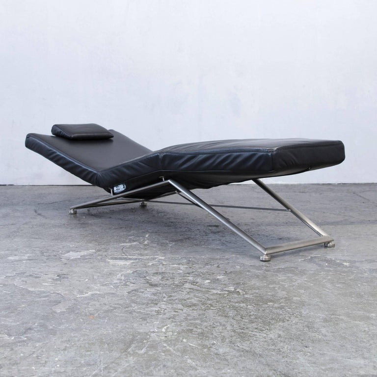 Recamiere modern  Koinor Designer Chaise Longue Leather Black Recamiere Chair ...