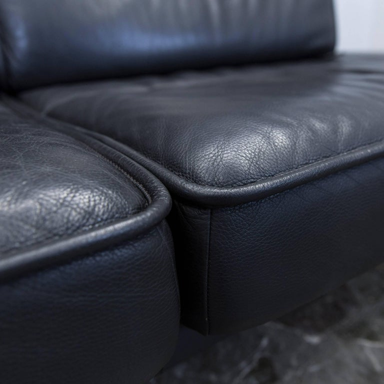 Contemporary De Sede DS 450 Designer Leather Sofa Black Relax Function Two-seat Modern For Sale