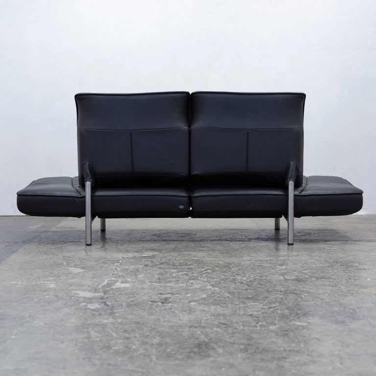 De Sede DS 450 Designer Leather Sofa Black Relax Function Two-seat Modern For Sale 5