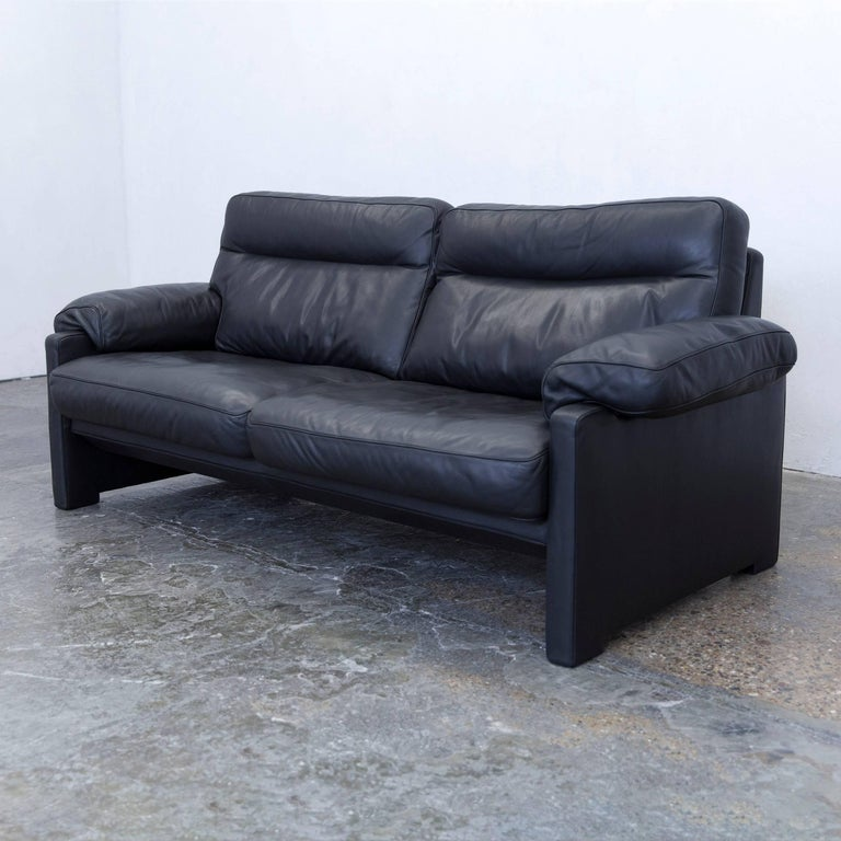 De Sede DS 1970 Designer Sofa Leather Black Two Seat Couch