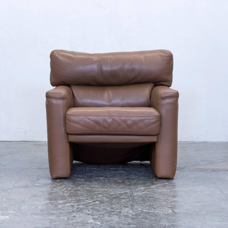 brühl and sippold designer chair leather brown one seat couch, Hause deko