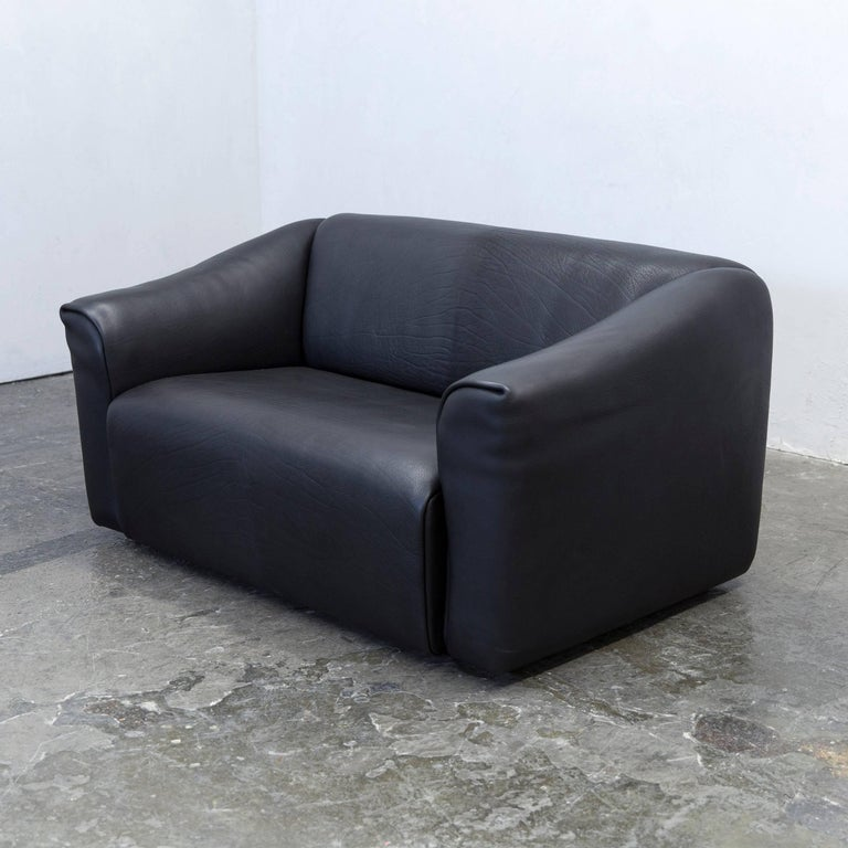 Designer couch leder  De Sede DS 47 Designer Sofa Neck Leather Black Two-Seat Function ...