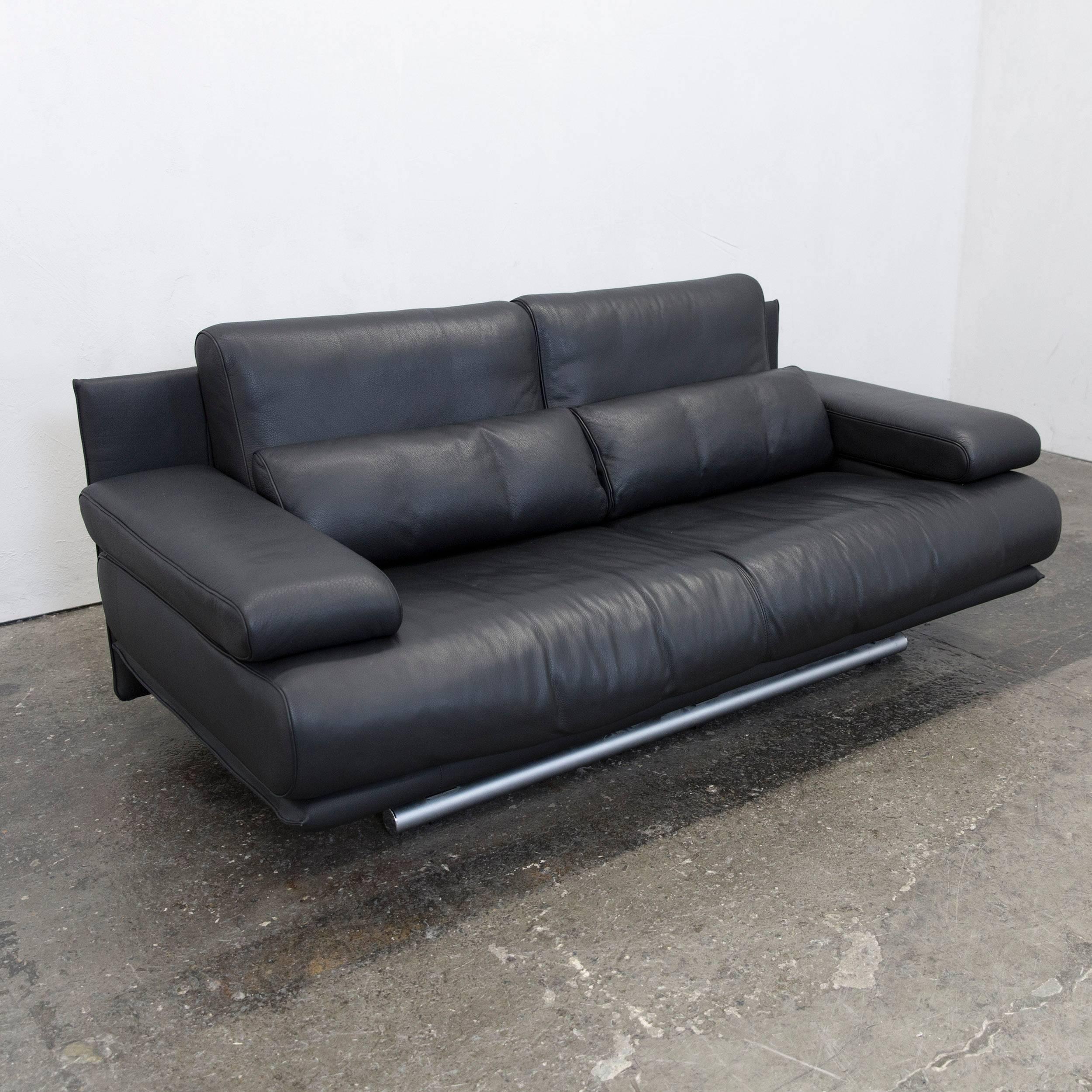 Sofa schwarz full size of schwarz weiss sofa und modern for Rolf benz big sofa
