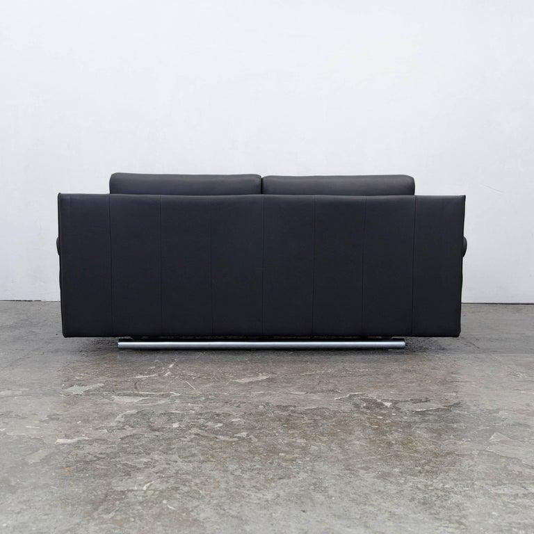 rolf benz 6500 designer sofa black three seater modern. Black Bedroom Furniture Sets. Home Design Ideas