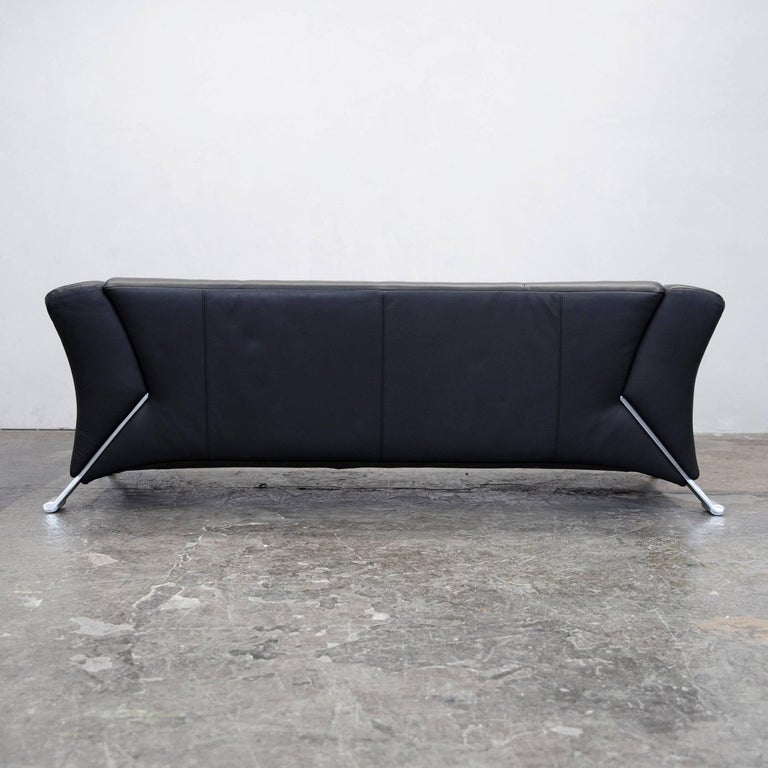 rolf benz 322 designer sofa schwarz dreisitzer leder echtleder modern 2549 at 1stdibs. Black Bedroom Furniture Sets. Home Design Ideas