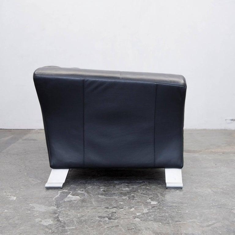 rolf benz 322 designer sofa schwarz dreisitzer leder. Black Bedroom Furniture Sets. Home Design Ideas