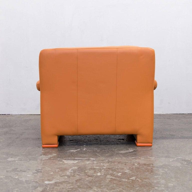 willi schillig designer chair orange leather three seat. Black Bedroom Furniture Sets. Home Design Ideas