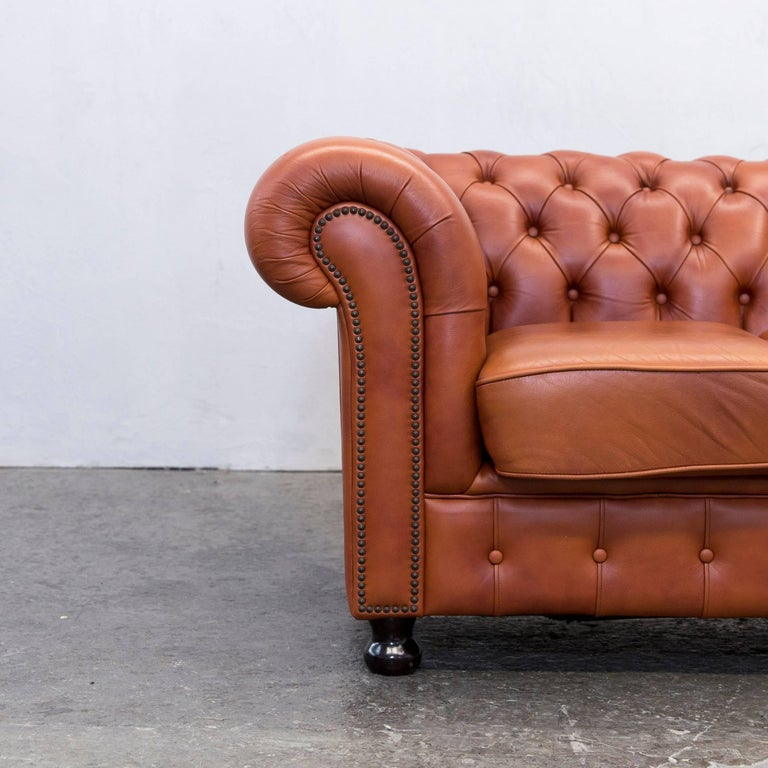 Chesterfield sofa leder  Original Chesterfield Two-Seat Couch Authentic Leather Terracotta ...