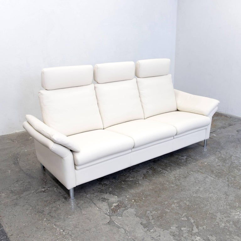 Ewald Schillig Designer Sofa Leather Cr Me Three Seat Function Modern For Sale At 1stdibs