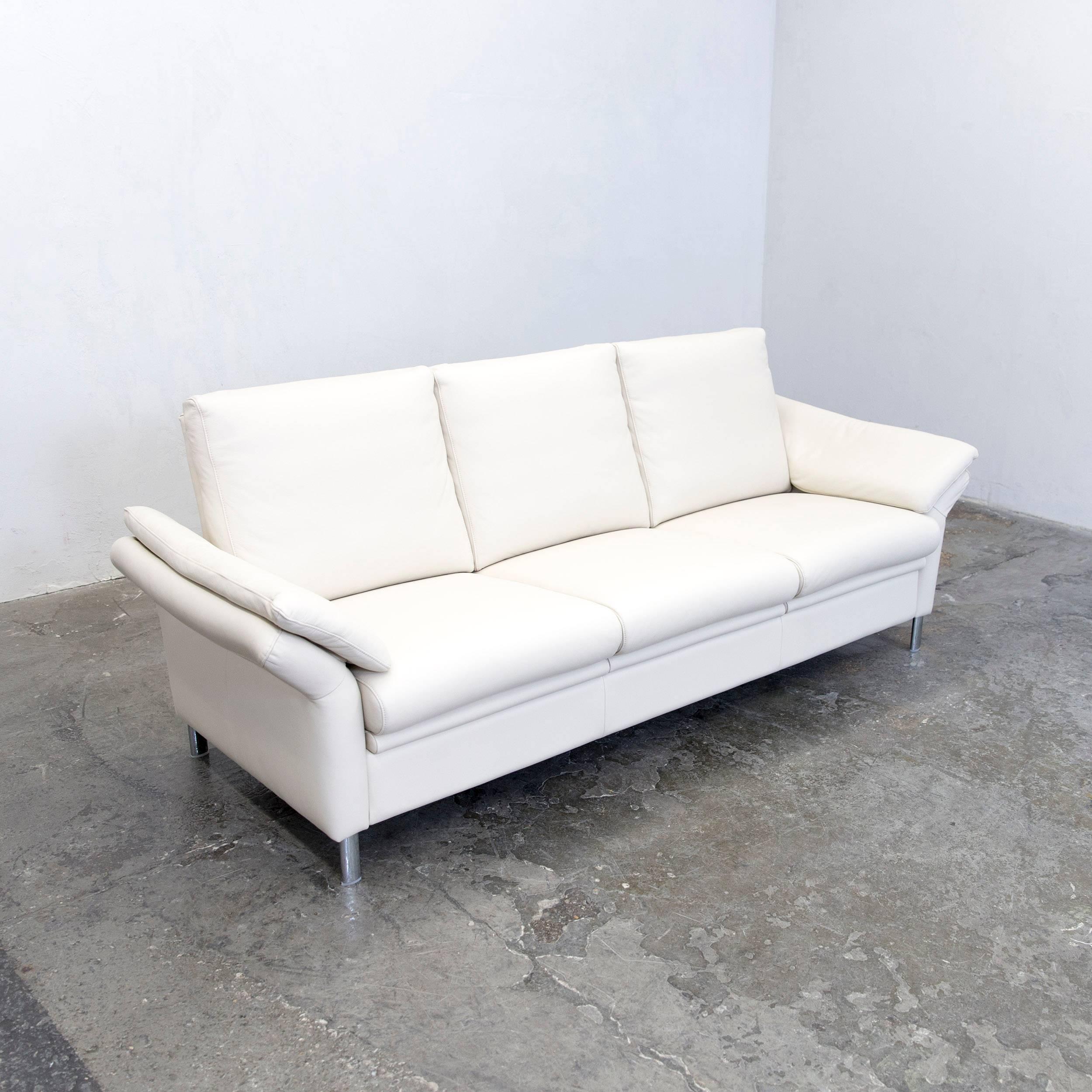 Künstlerisch Schillig Sofas Sammlung Von Ewald Designer Sofa Leather Crème Three-seat Function