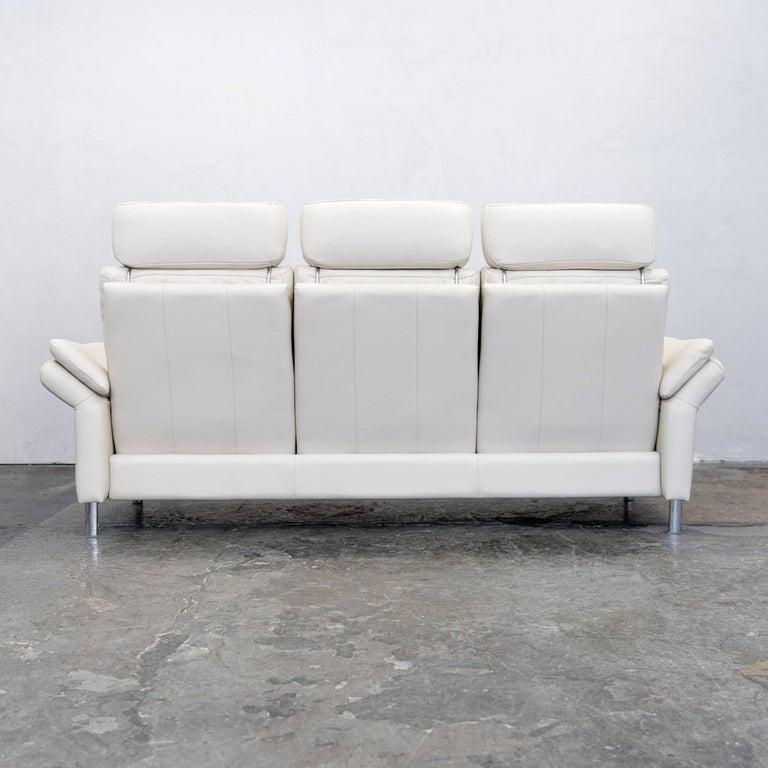ewald schillig designer sofa leather cr me three seat. Black Bedroom Furniture Sets. Home Design Ideas