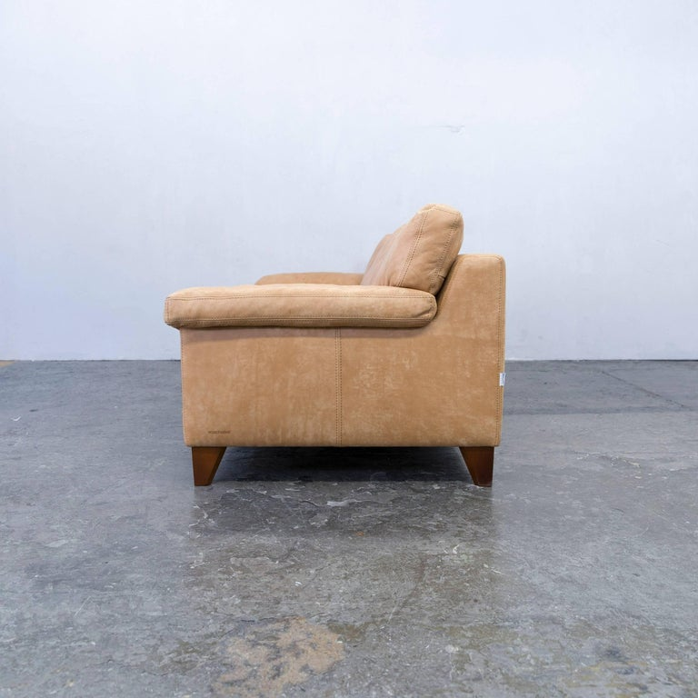 machalke diego designer sofa leather cognac zigarro aged. Black Bedroom Furniture Sets. Home Design Ideas