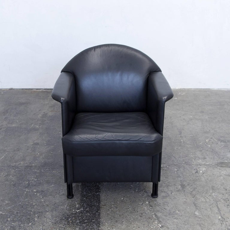 cor designer armchair leather black one seat couch modern. Black Bedroom Furniture Sets. Home Design Ideas