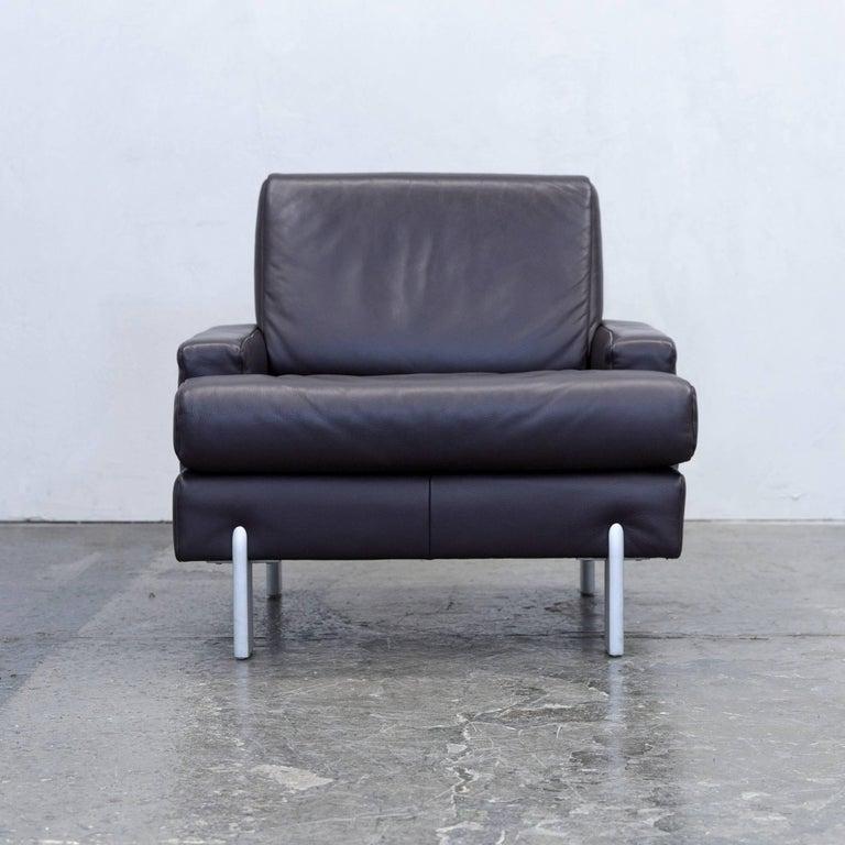 Sofa modern braun  Rolf Benz Designer Armchair Leather Brown One-Seat Couch Modern ...