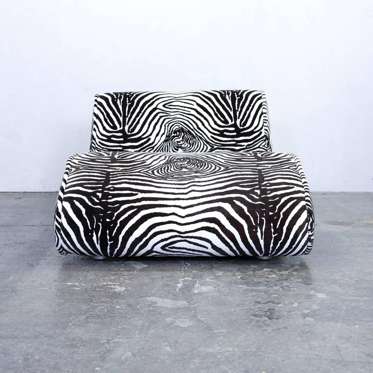 bretz designer recamiere microfibre white black zebra. Black Bedroom Furniture Sets. Home Design Ideas