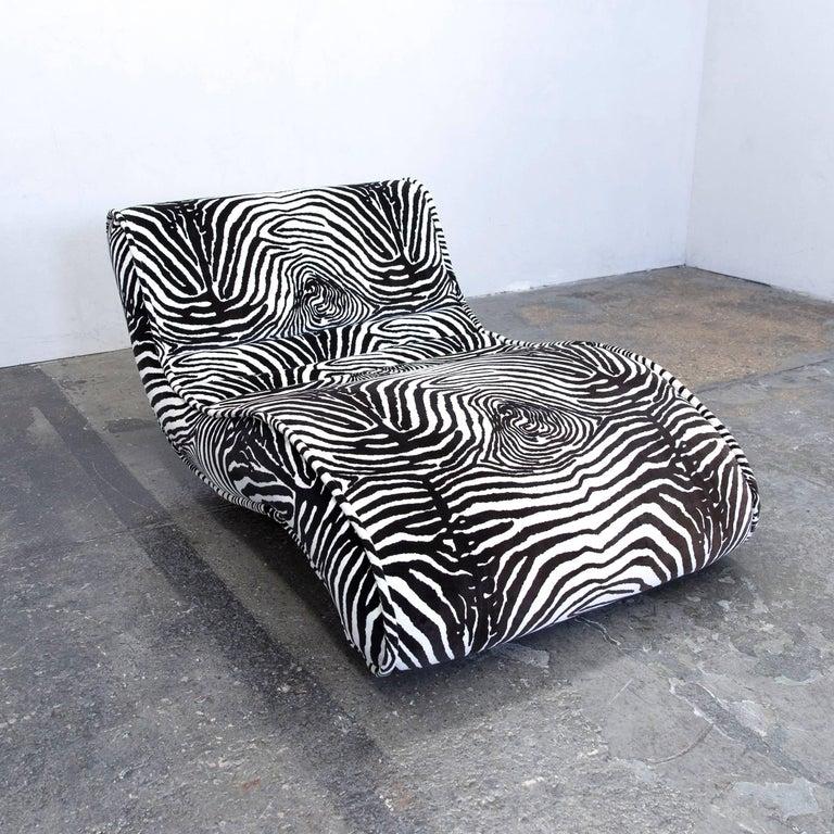 Bretz Designer Recamiere Microfibre White Black Zebra
