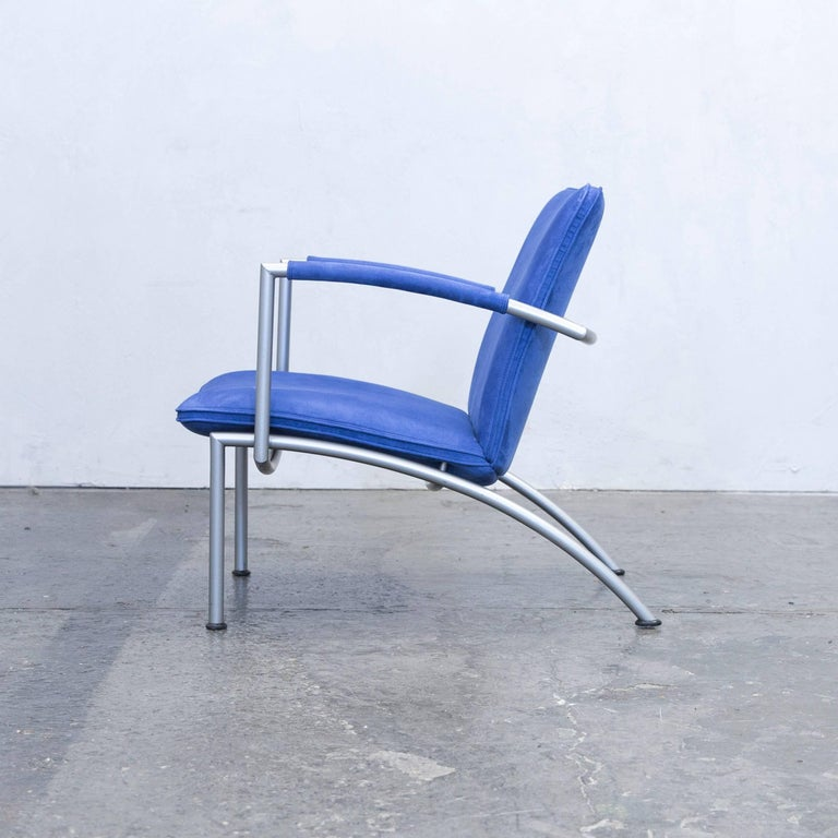 cor pando designer chair fabric blue one seat microfiber. Black Bedroom Furniture Sets. Home Design Ideas