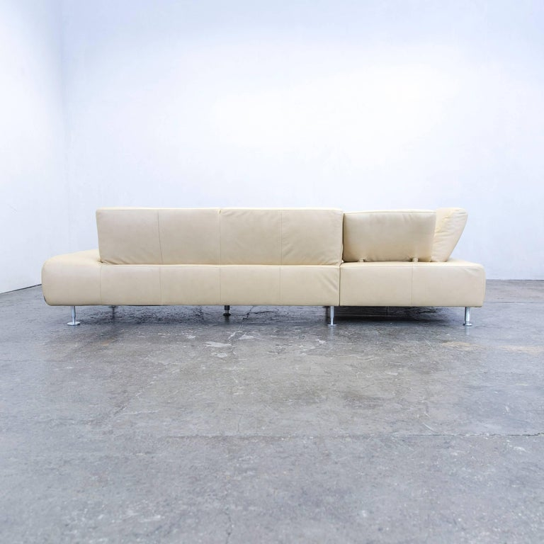 Willi schillig designer cornersofa leather cr me beige for Funktions ecksofa