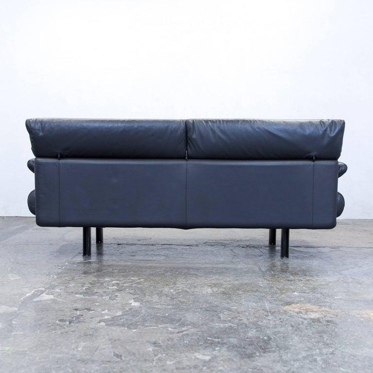 B B Italia Alanda Designer Sofa Leather Black Three Seat Function Couch Modern For Sale At 1stdibs