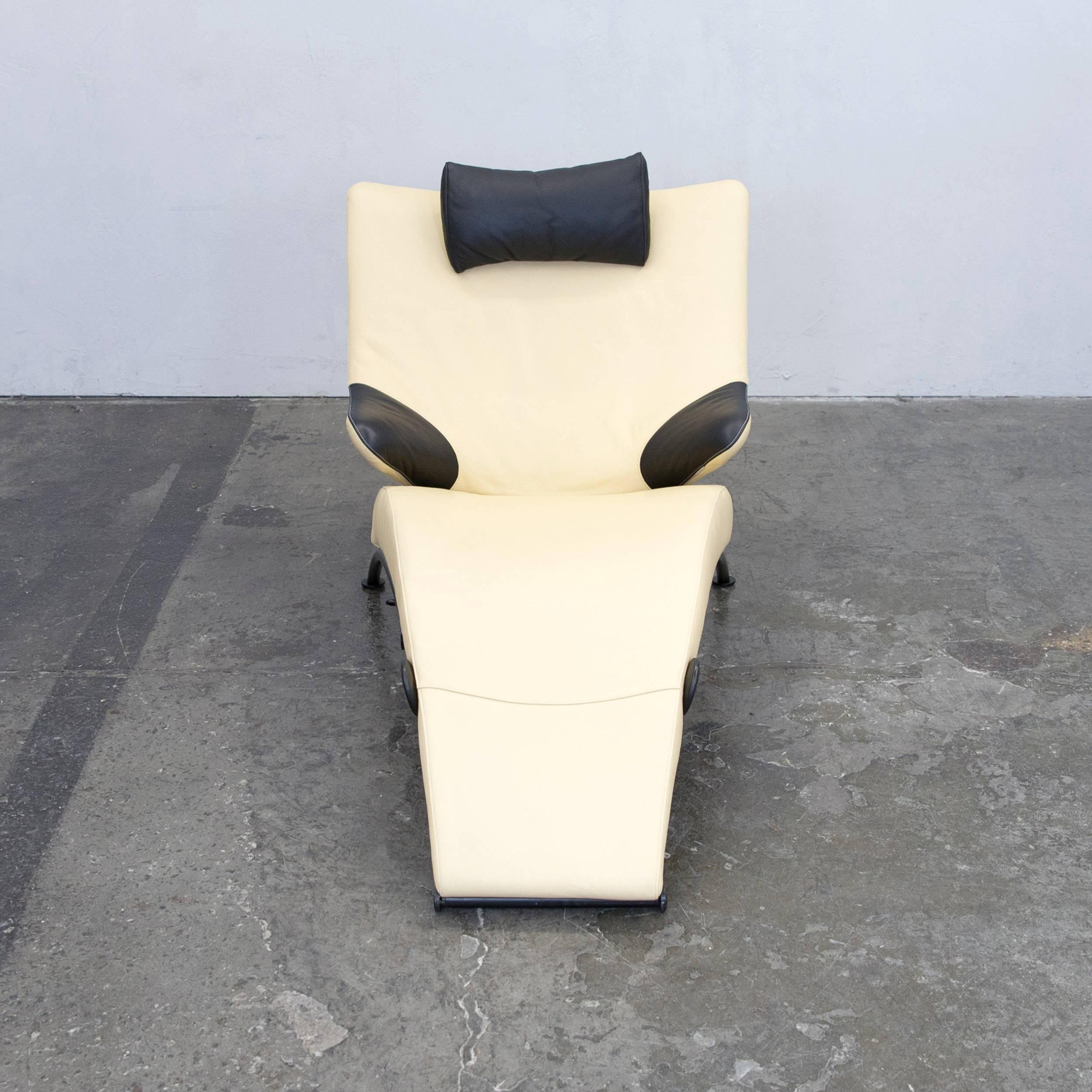 Designer Wohnen wk wohnen 699 designer chair leather crème black function